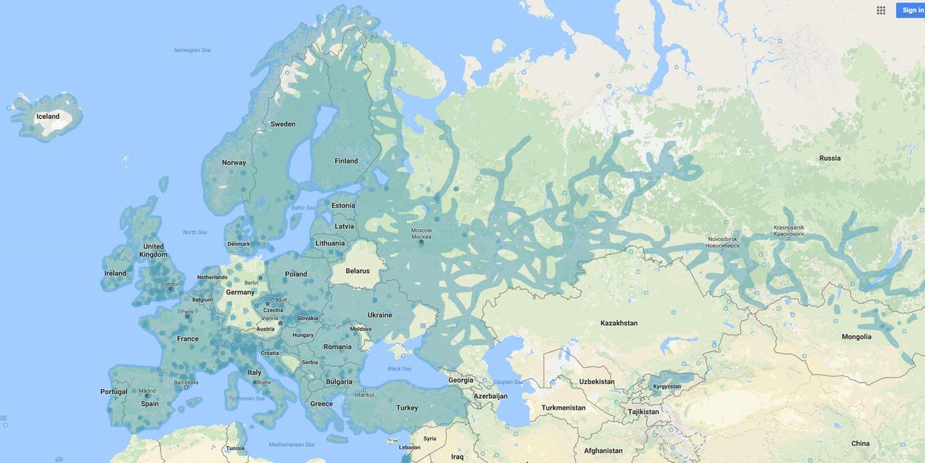 This Google Map Says a Lot About How Germans Value Privacy | Inverse