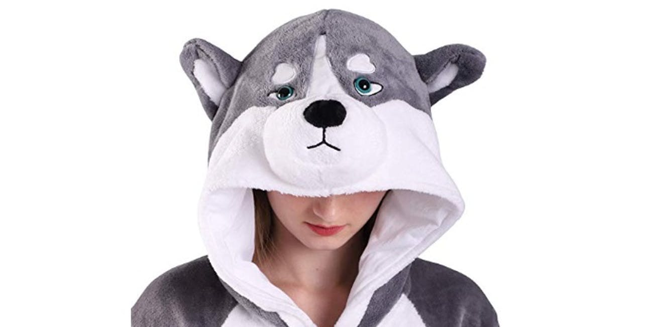 EJsoyo Fashion Onesie Sleepwear Rabbit Husky Animal Costume Adults and Teens