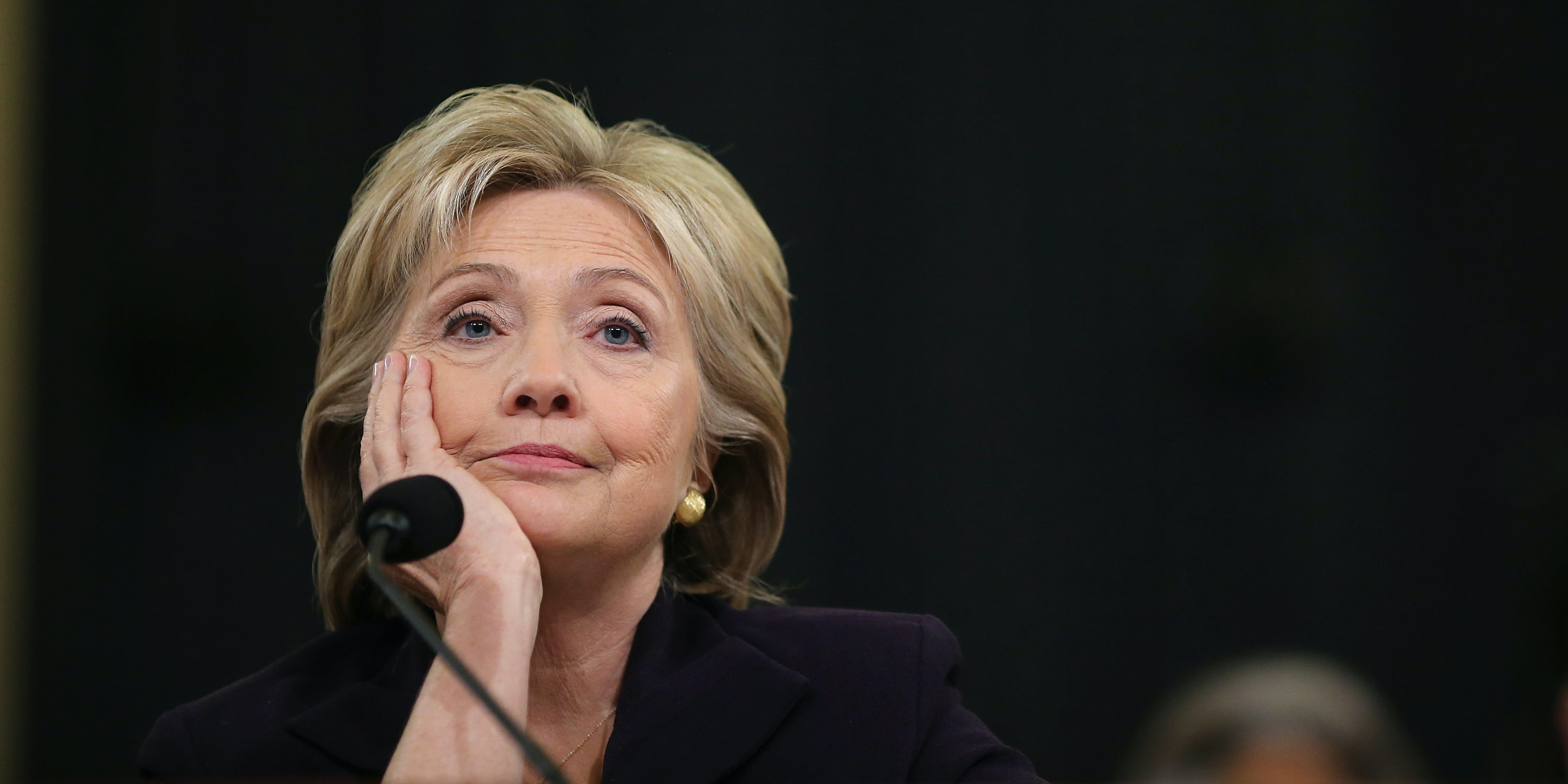 WASHINGTON, DC - OCTOBER 22:  Democratic presidential candidate and former Secretary of State Hillary Clinton testifies before the House Select Committee on Benghazi October 22, 2015 on Capitol Hill in Washington, DC. The committee held a hearing to continue its investigation on the attack that killed Ambassador Chris Stevens and three other Americans at the diplomatic compound in Benghazi, Libya, on the evening of September 11, 2012.  (Photo by Chip Somodevilla/Getty Images)