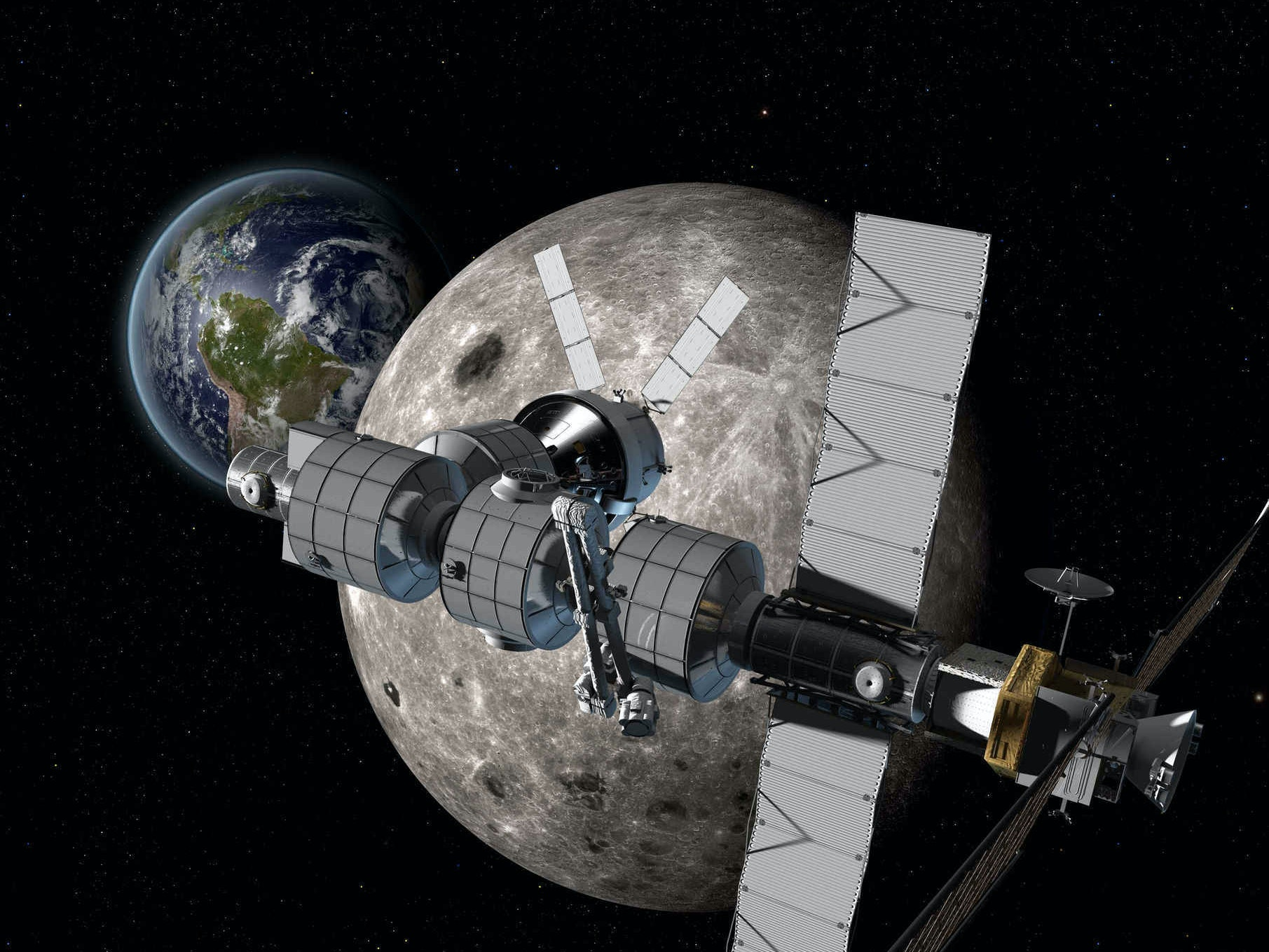 Boeing's Lunar Space Station Will be Stepping Stone to Mars