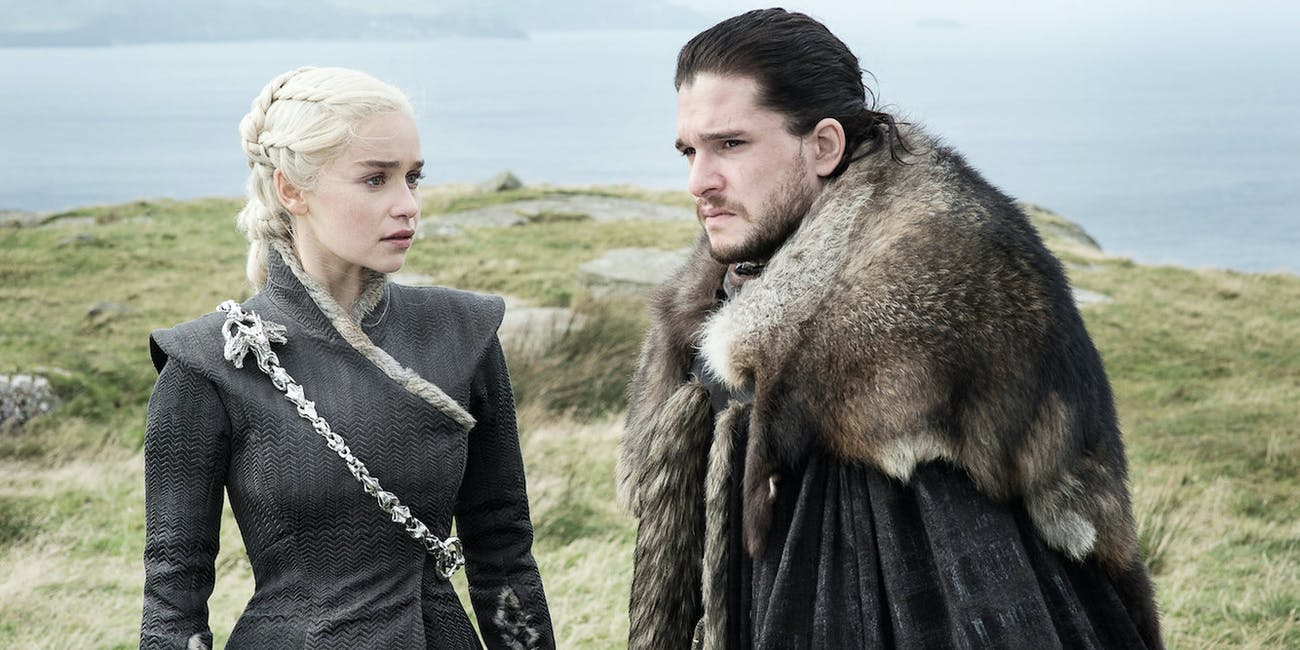 Emilia Clarke and Kit Harington in 'Game of Thrones'