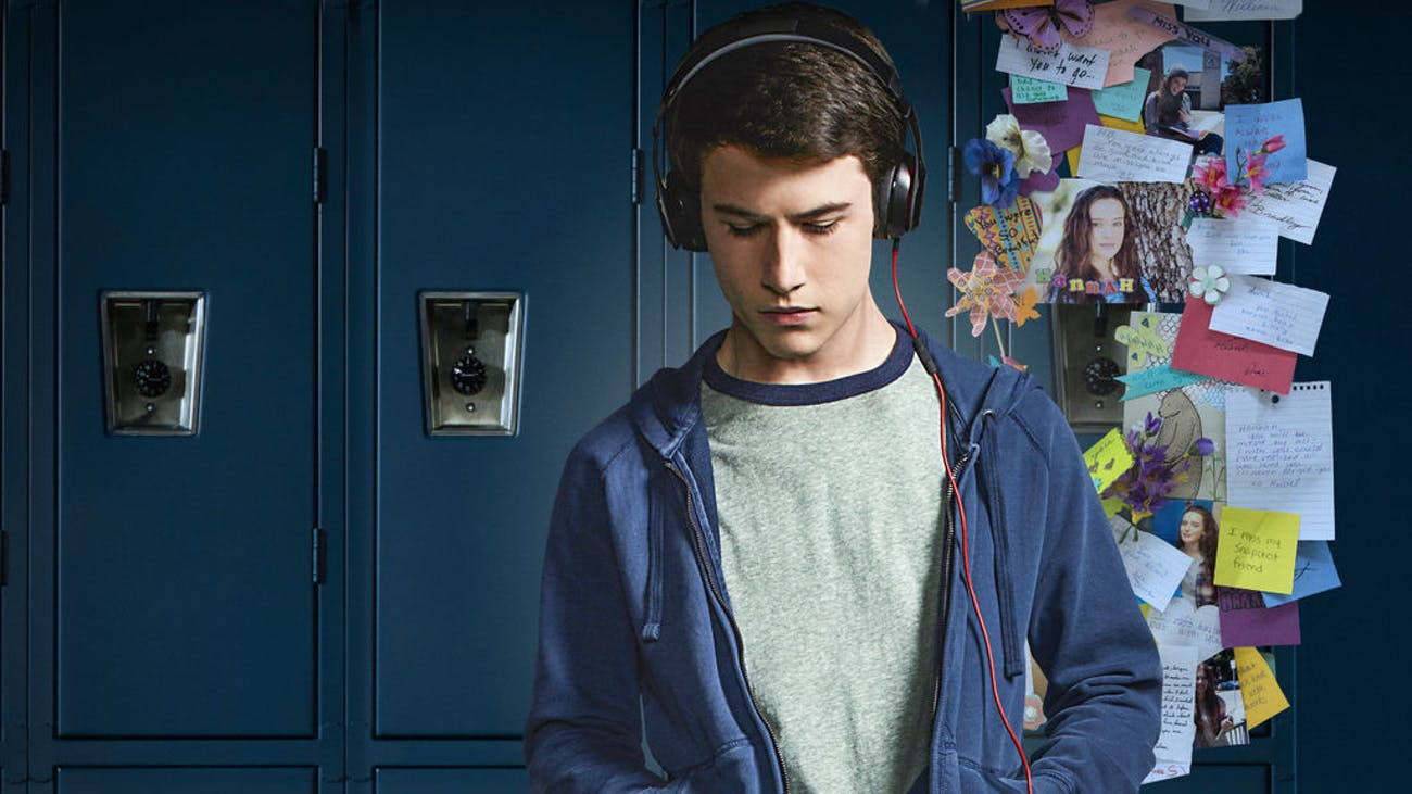 Dylan Minnette as Clay Jensen on '13 Reasons Why'.