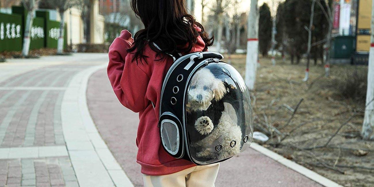 Space Capsule Bubble Shoulder Pet Backpack