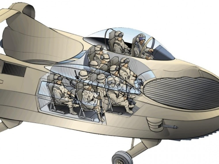 The X-Hawk could fit up to 11 soliders