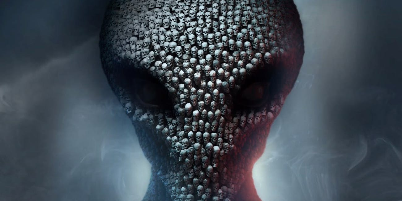An alien head made out of human skulls sets the exact right tone for 'XCOM 2'.