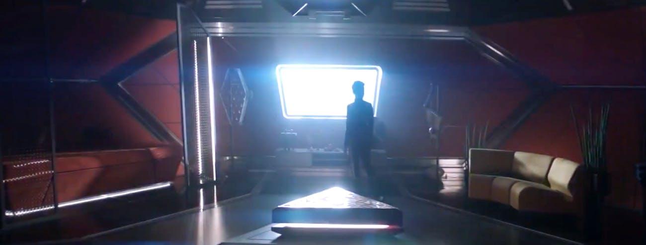 Burnham in Spock's room.