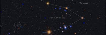 The Hyades make up the face of Taurus the Bull