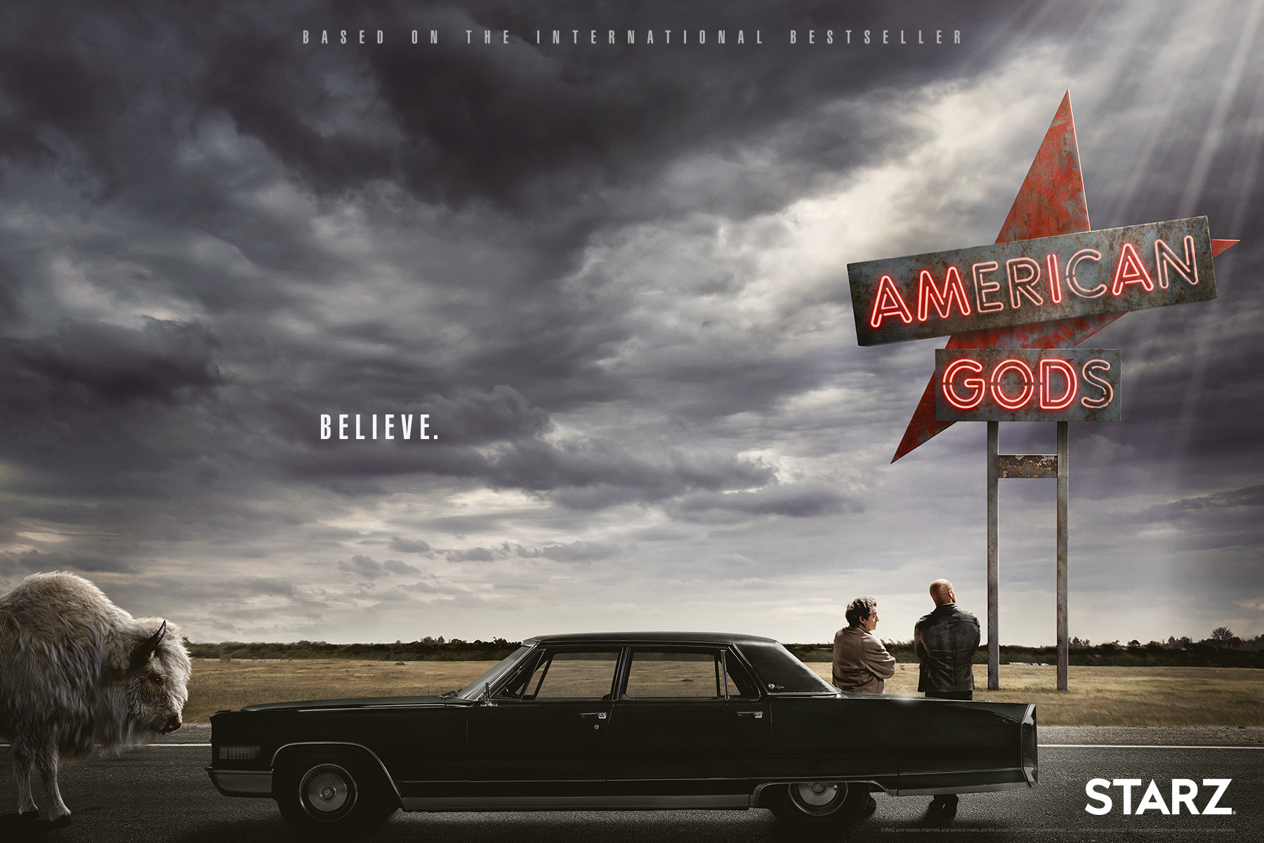 Also released on Thursday was the key art for the STARZ series, 'American Gods.'