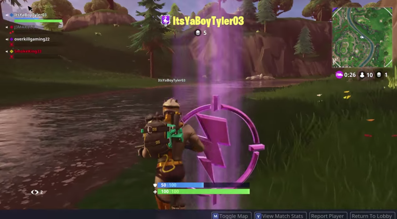 Fortnite Purple Lightning Bolt How To Find The Center Of The