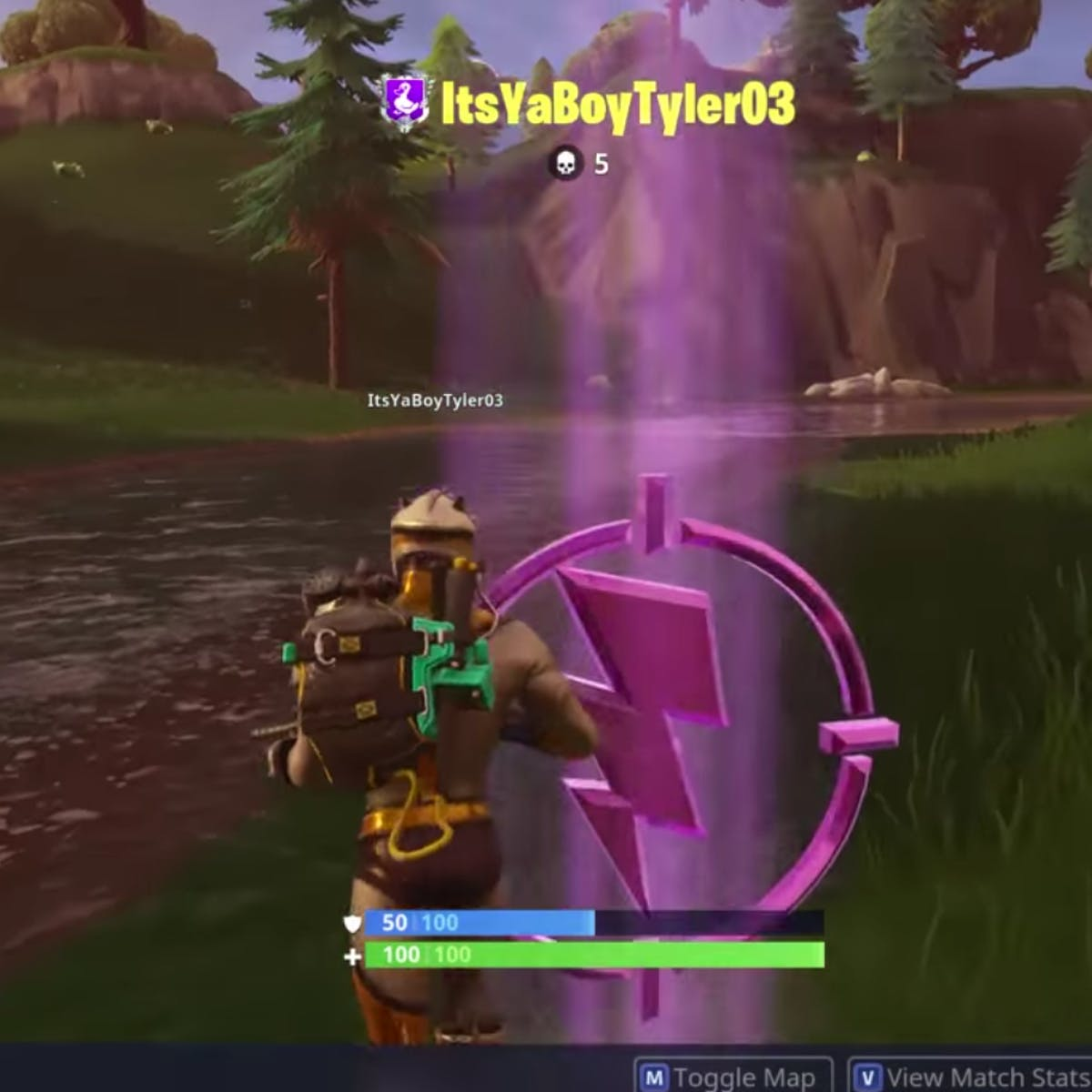 Fortnite' Purple Lightning Bolt: How to Find the 'Center of
