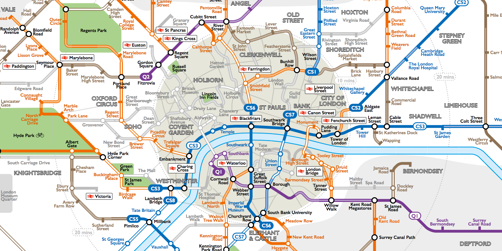 This Tube Style Map Reveals London s Intricate Cycle Path Network
