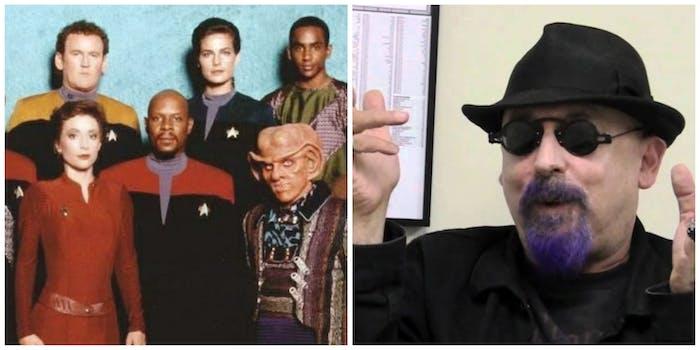 LEFT: Cast of 'Deep Space Nine.' RIGHT: Ira Steven Behr.
