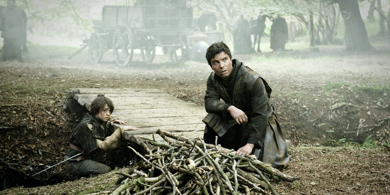 Arya and Gendry in 'Game of Thrones'