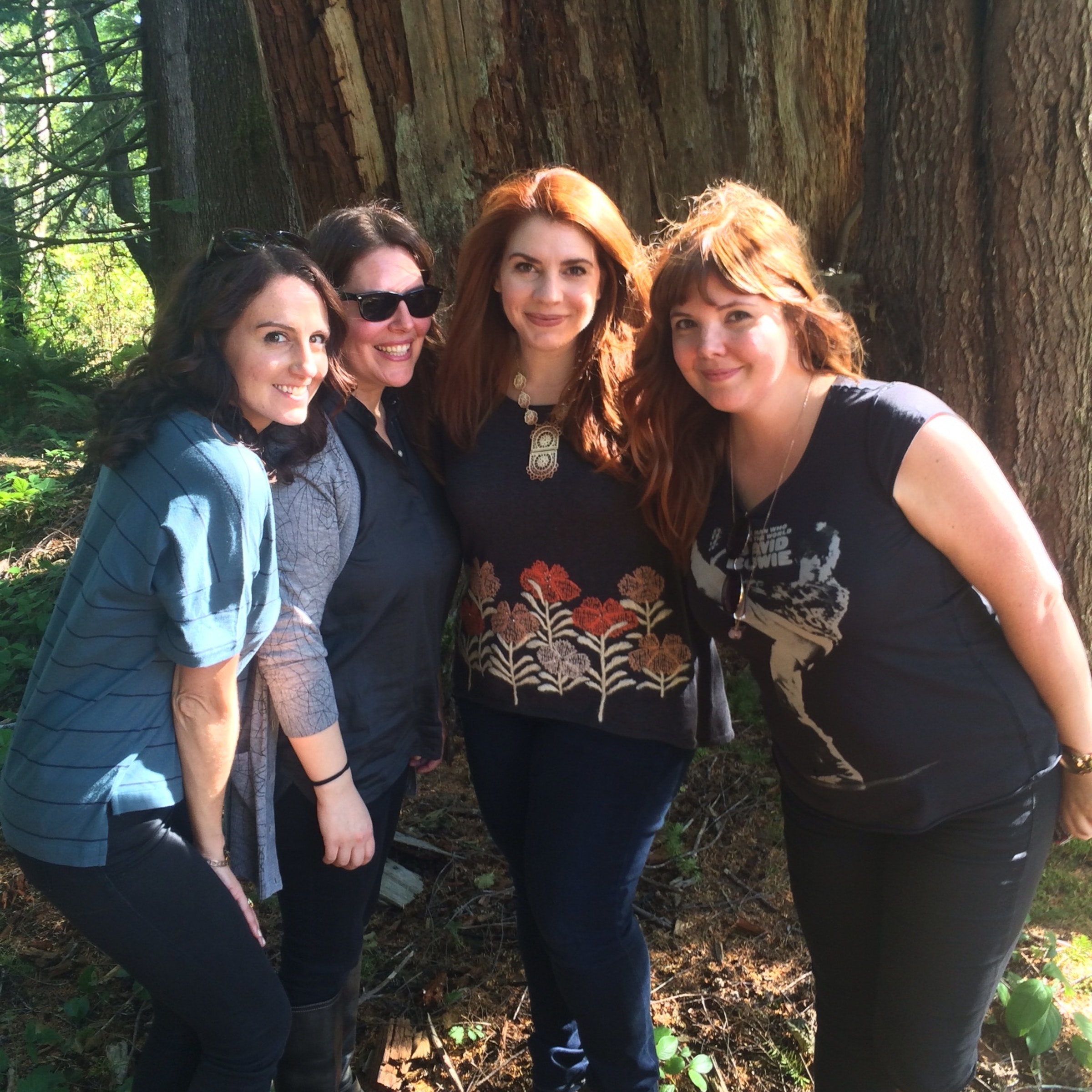 Decker (right) and Pierce (left) with Twilight author Stephenie Meyer (middle)