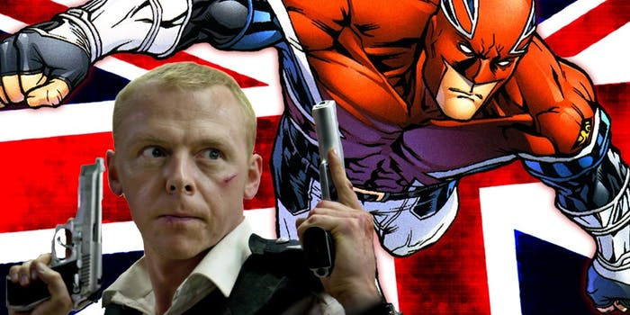 Simon Pegg wants to play Captain Britain, but he has some concerns.