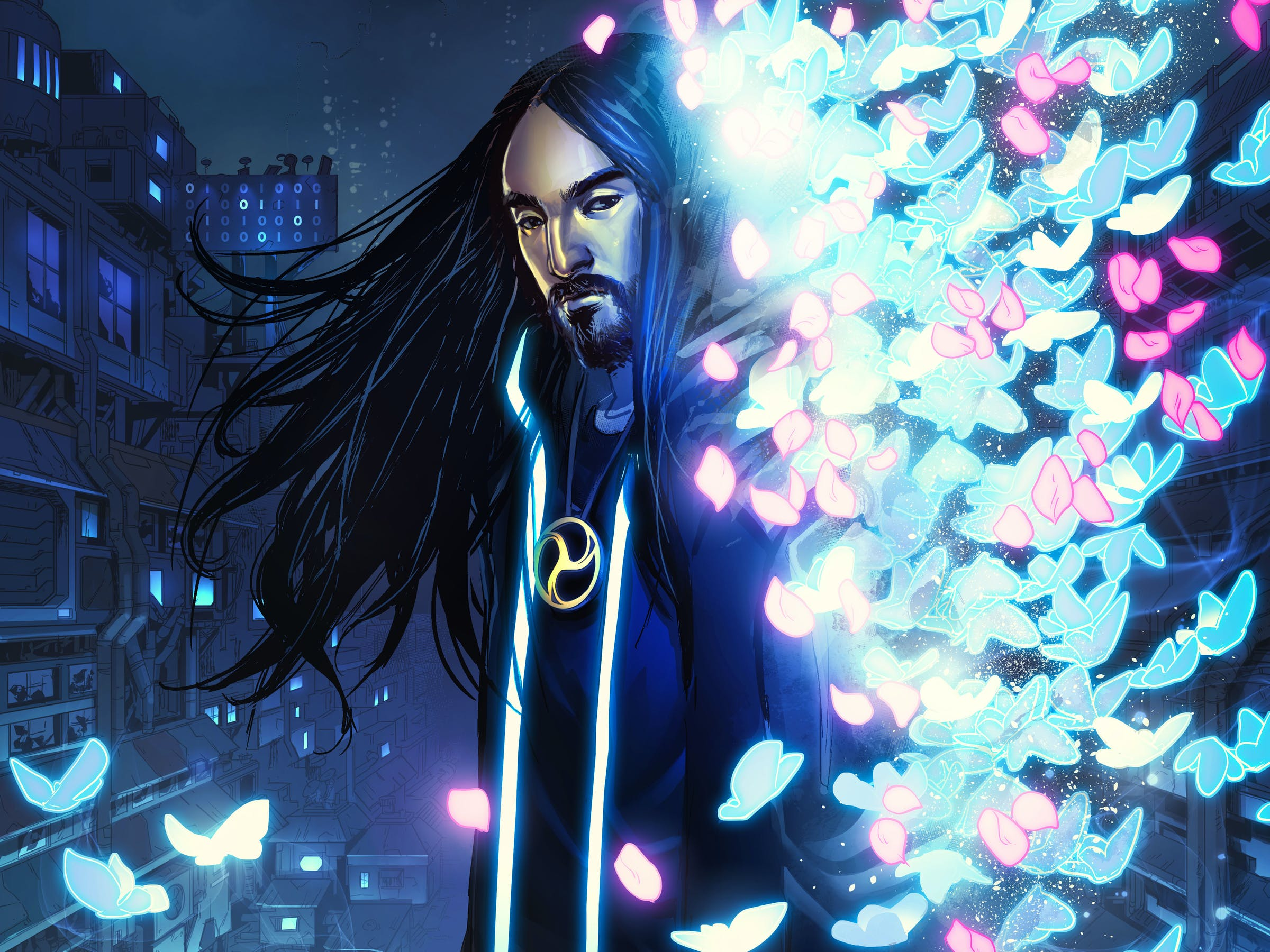 Neon Future Steve Aoki