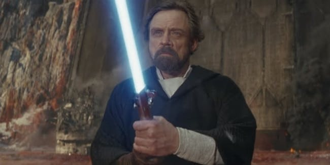 Luke Skywalker's projection doesn't interact with the physical world in any way in 'The Last Jedi'.