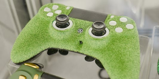 The faux astroturf might be ideal for 'FIFA' players.
