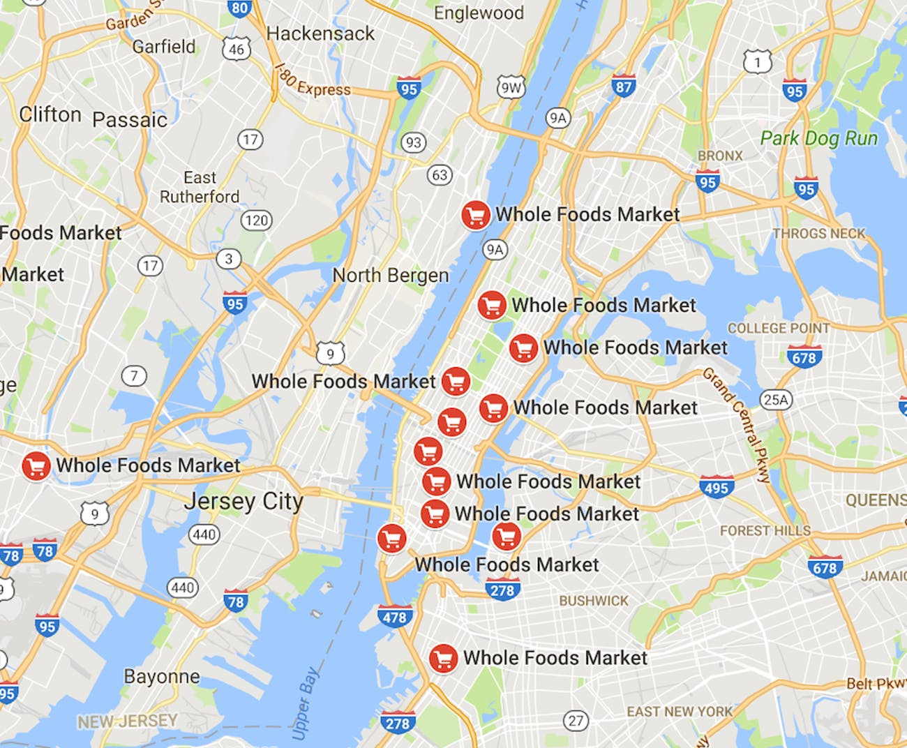 New York City Whole Foods stores Amazon