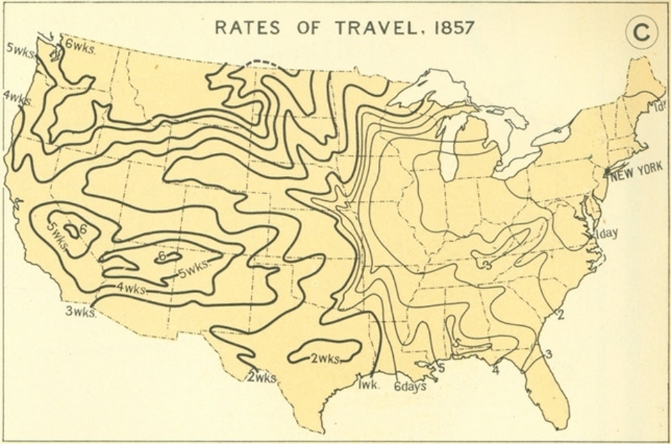 These Historical US Travel Maps Show How Long Transport Took in – Us Travel Maps