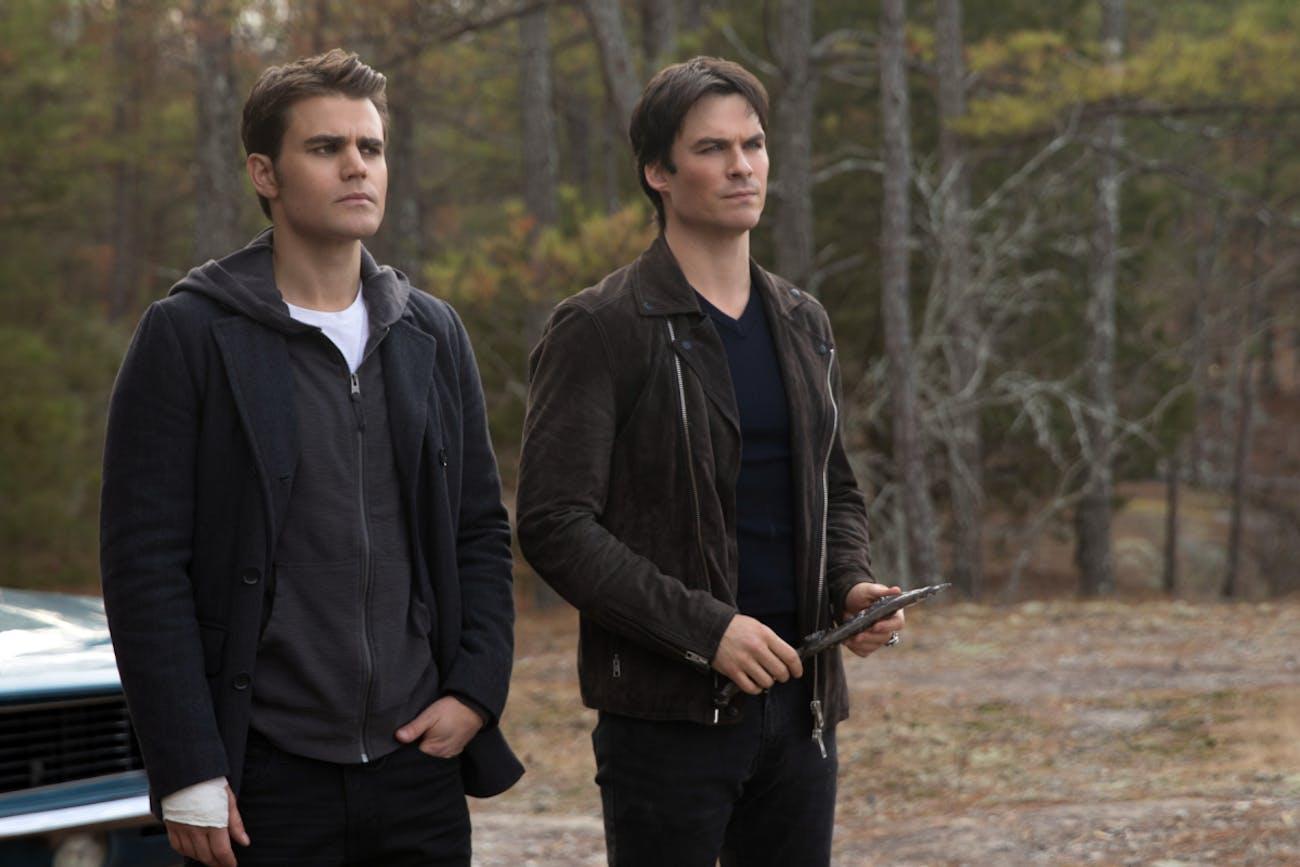 Paul Wesley and Ian Solmerhalder in 'The Vampire Diaries'
