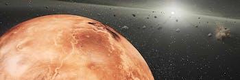 Artist's rendition of Martian impact