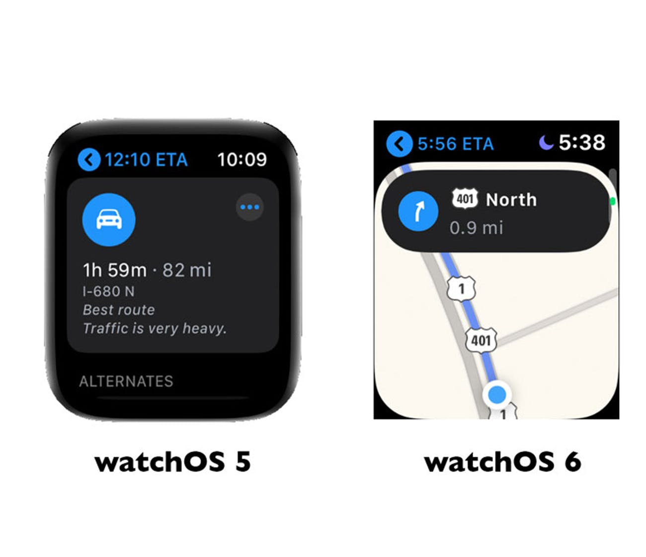 watch os apple maps app