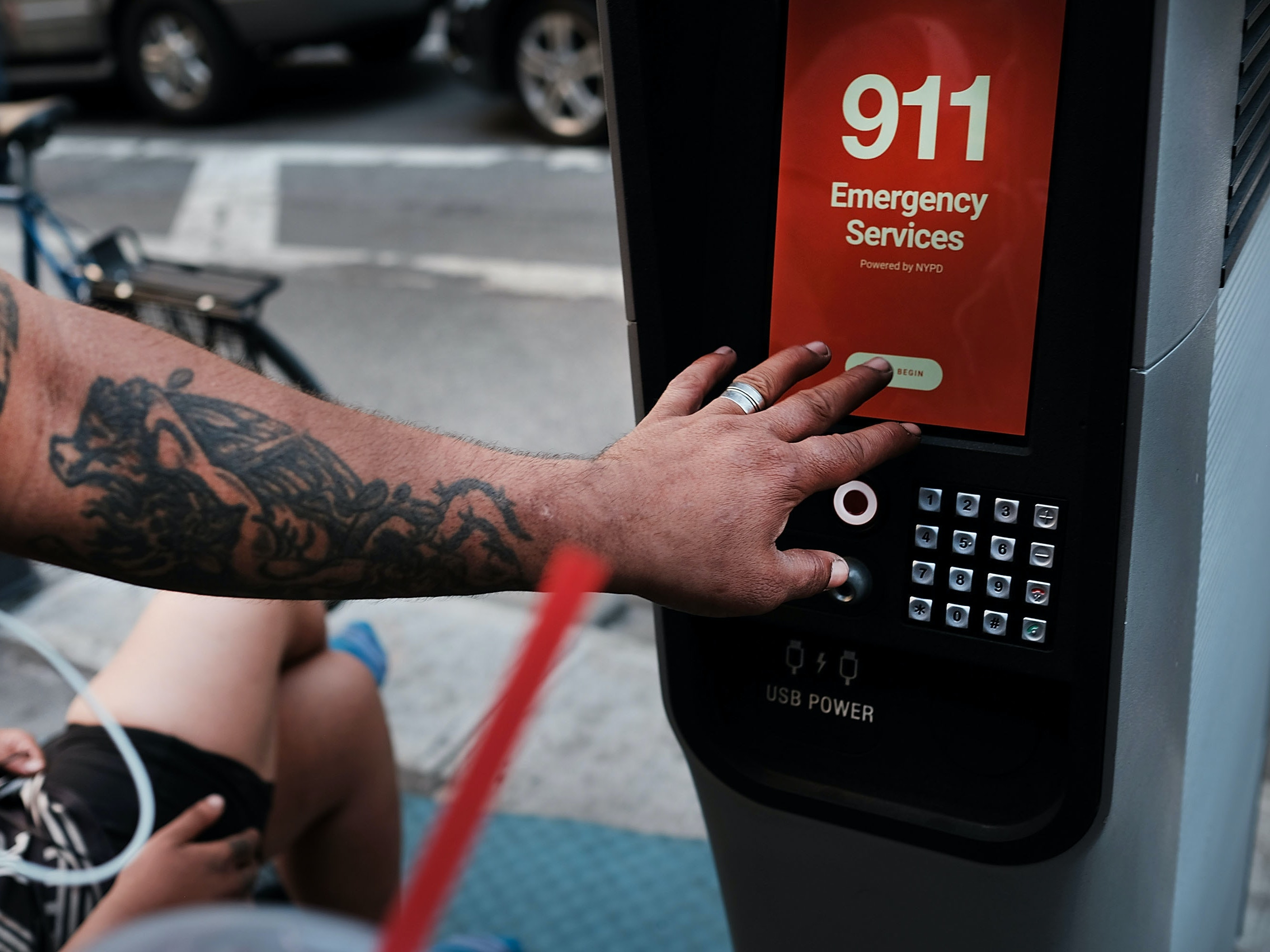 Emergency calling via Link kiosks.