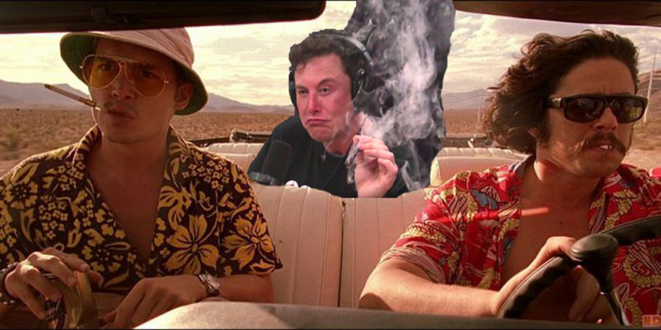 A hasty 'shop into the backseat of the car in 'Fear and Loathing'