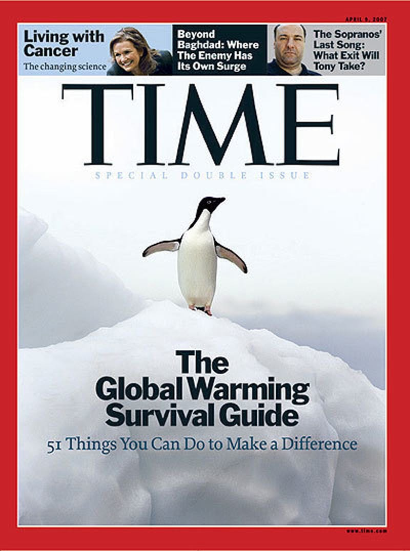 global warming time cover