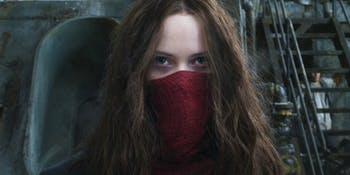 Hera Hilmar as fugitive Hester Shaw in 'Mortal Engines'.