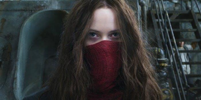 Hera Hilmar as fugitive Hester Shaw in 'Mortal Engines'.