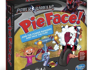 Power Rangers Pie Face Game Hasbro