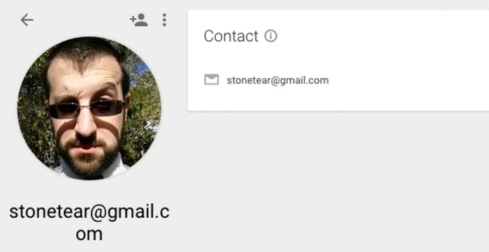This is what Stonetear@gmail.com's Google profile looks like.
