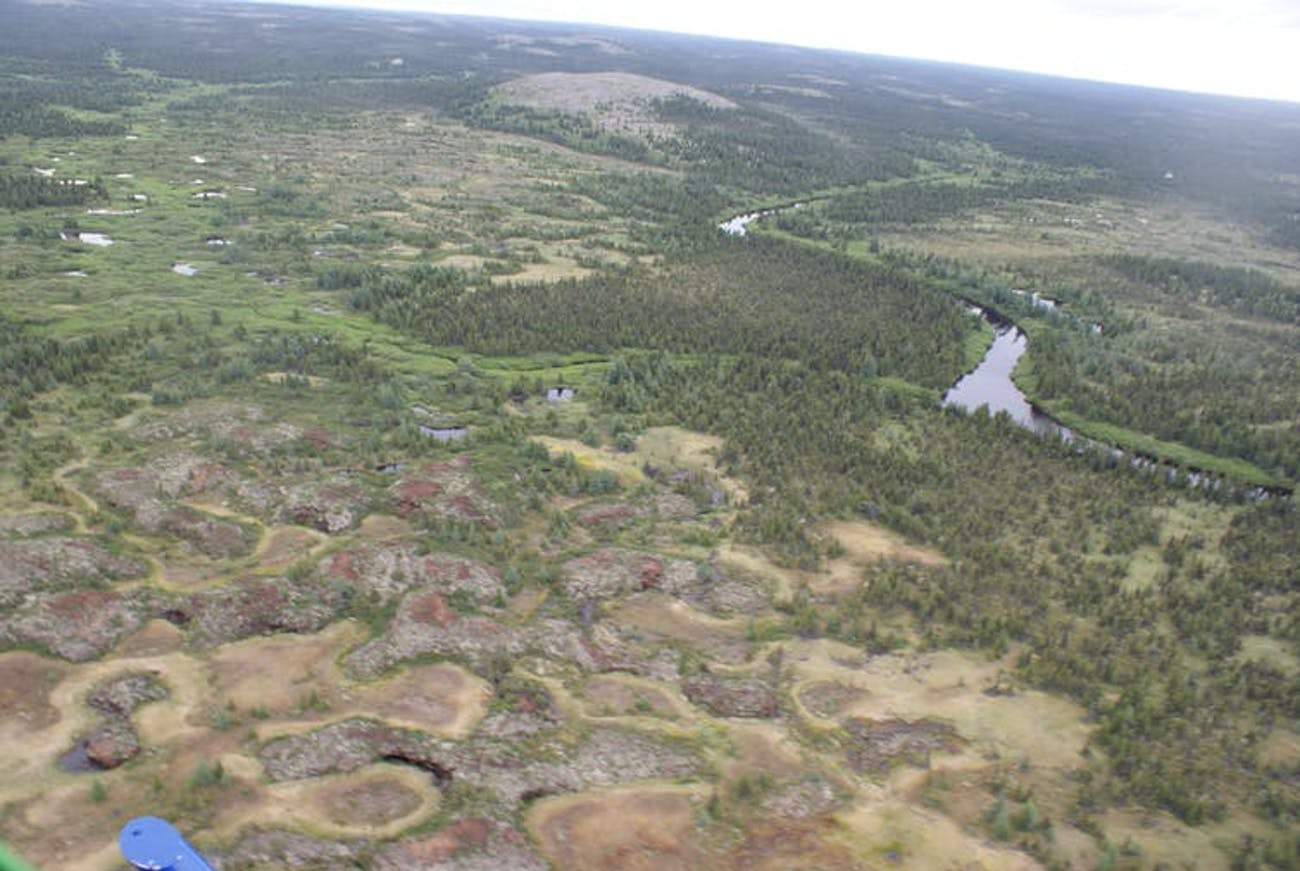 Kuujjuarapik is a region underlain by permafrost in Northern Canada.