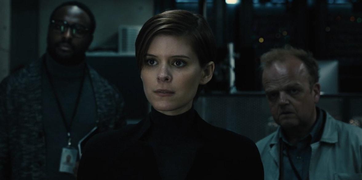 "Kate Mara (center) in ""Morgan."""