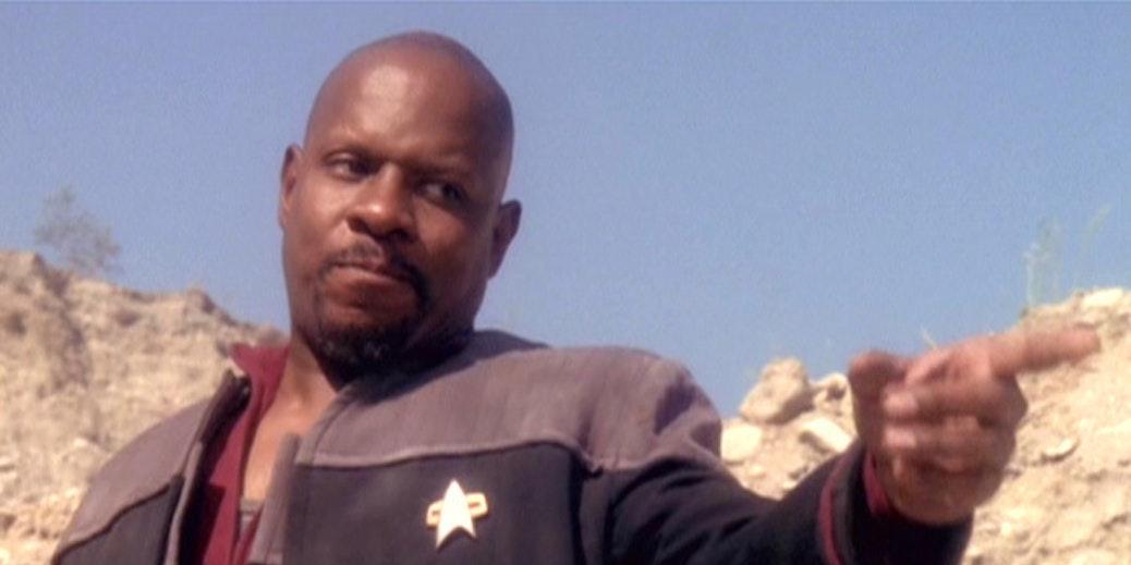 Captain Sisko in 'Deep Space Nine.'