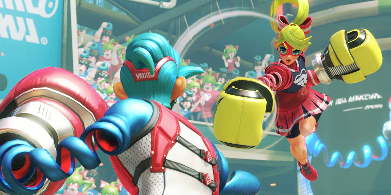 ARMS Nintendo Switch Boxing Ribbon Girl Spring Man