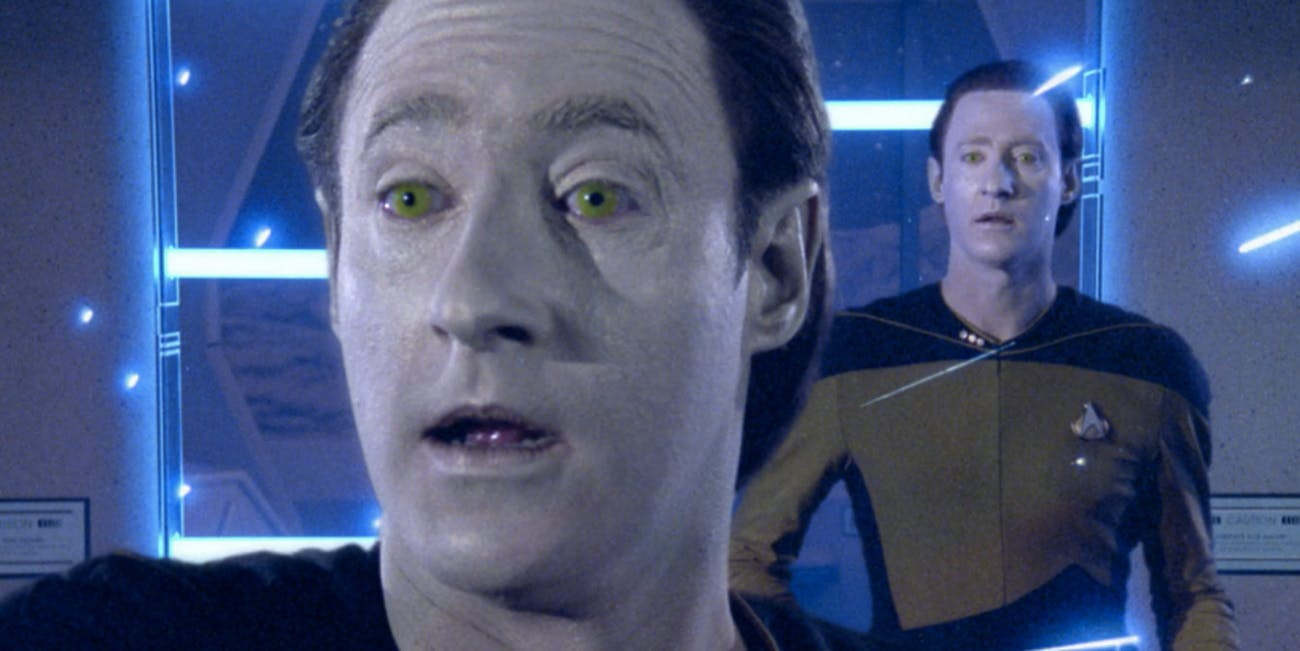 Data Star Trek: The Next Generation time warp