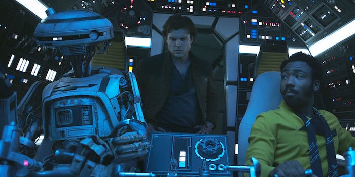 Lando's flirting with somebody here in 'Solo: A Star Wars Story', but who is it?