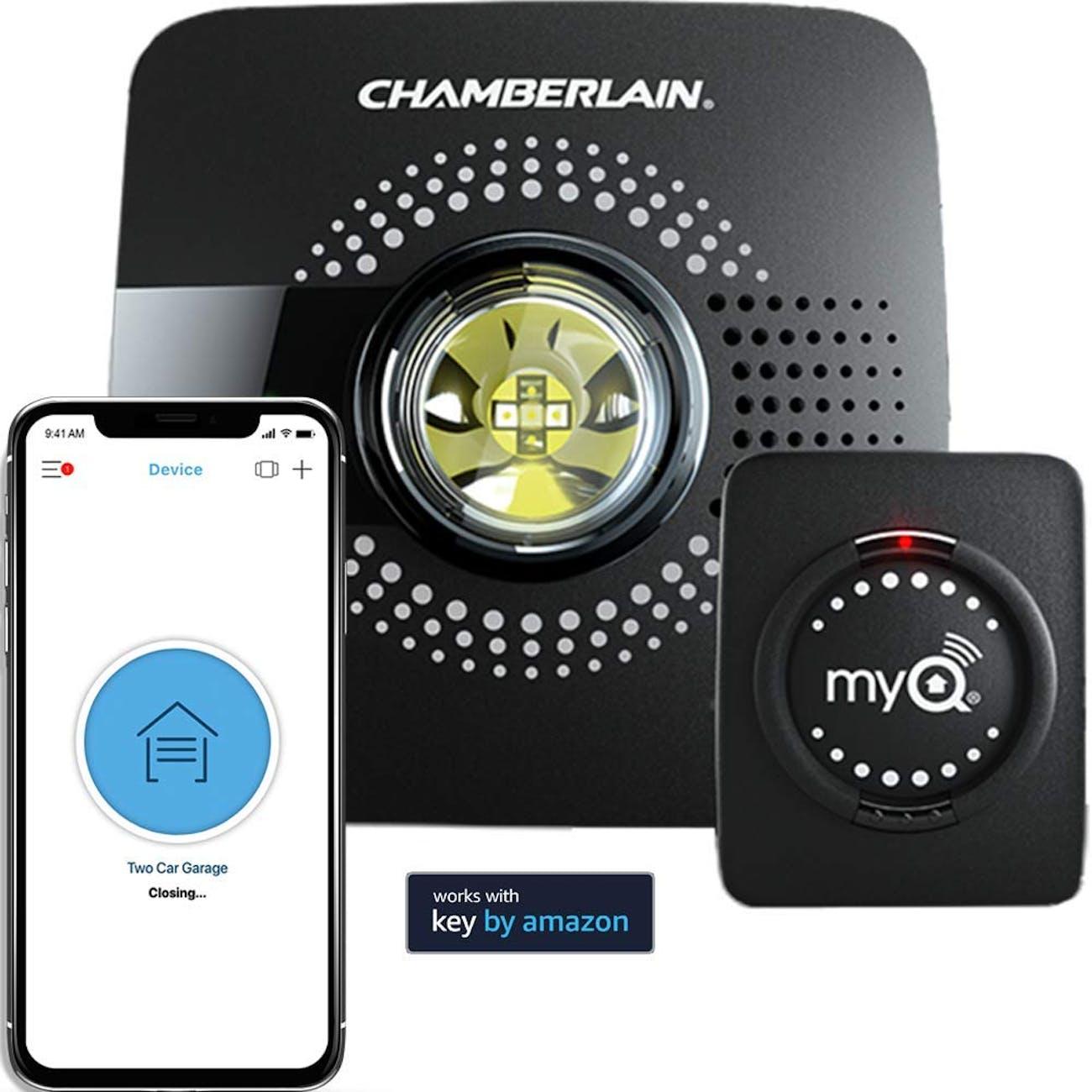 MyQ Smart Garage Door Opener Chamberlain MYQ-G0301 - Wireless & Wi-Fi enabled Garage Hub with Smartphone Control