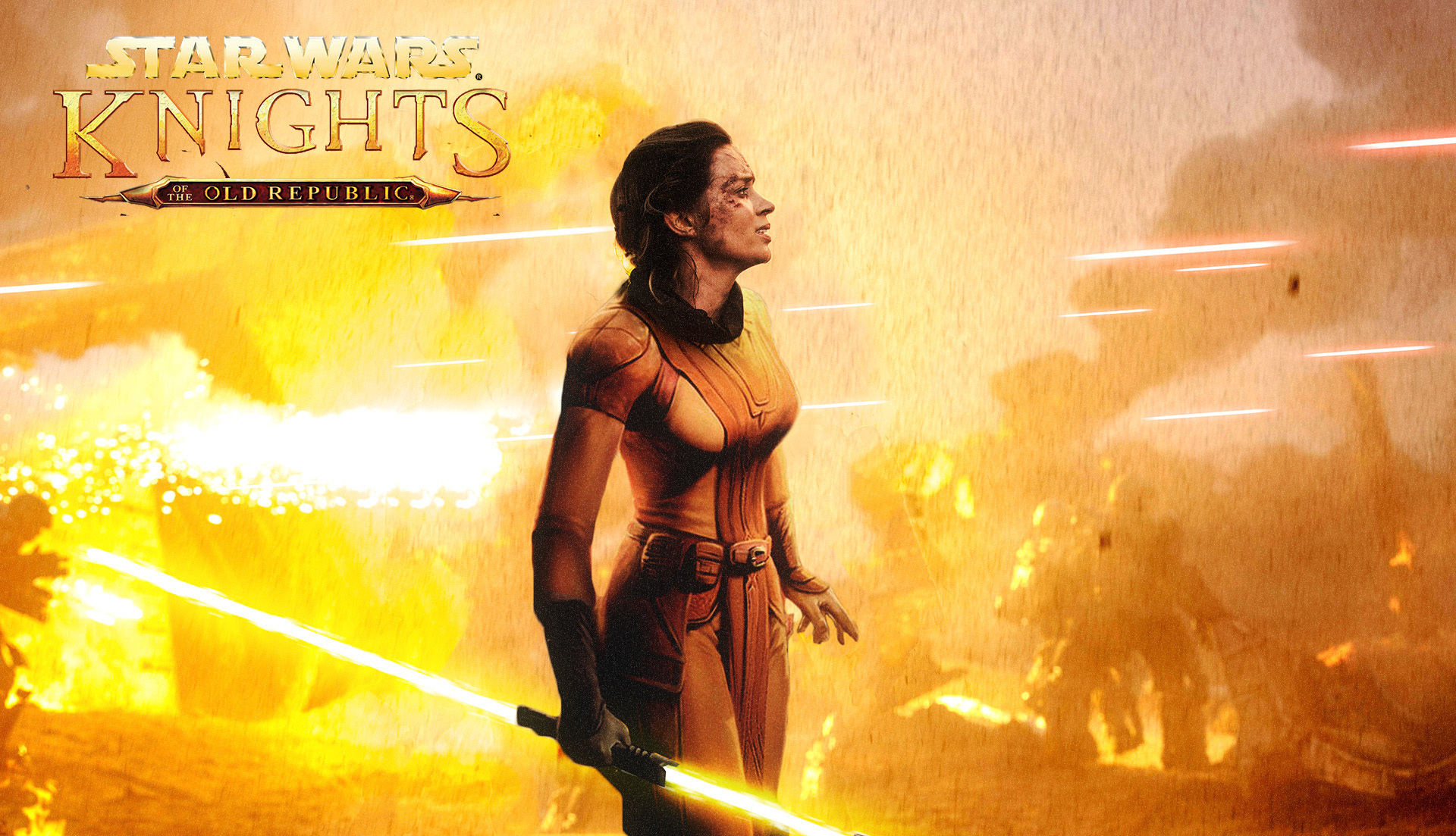 Fan rendering of Emily Blunt as Bastila Shan