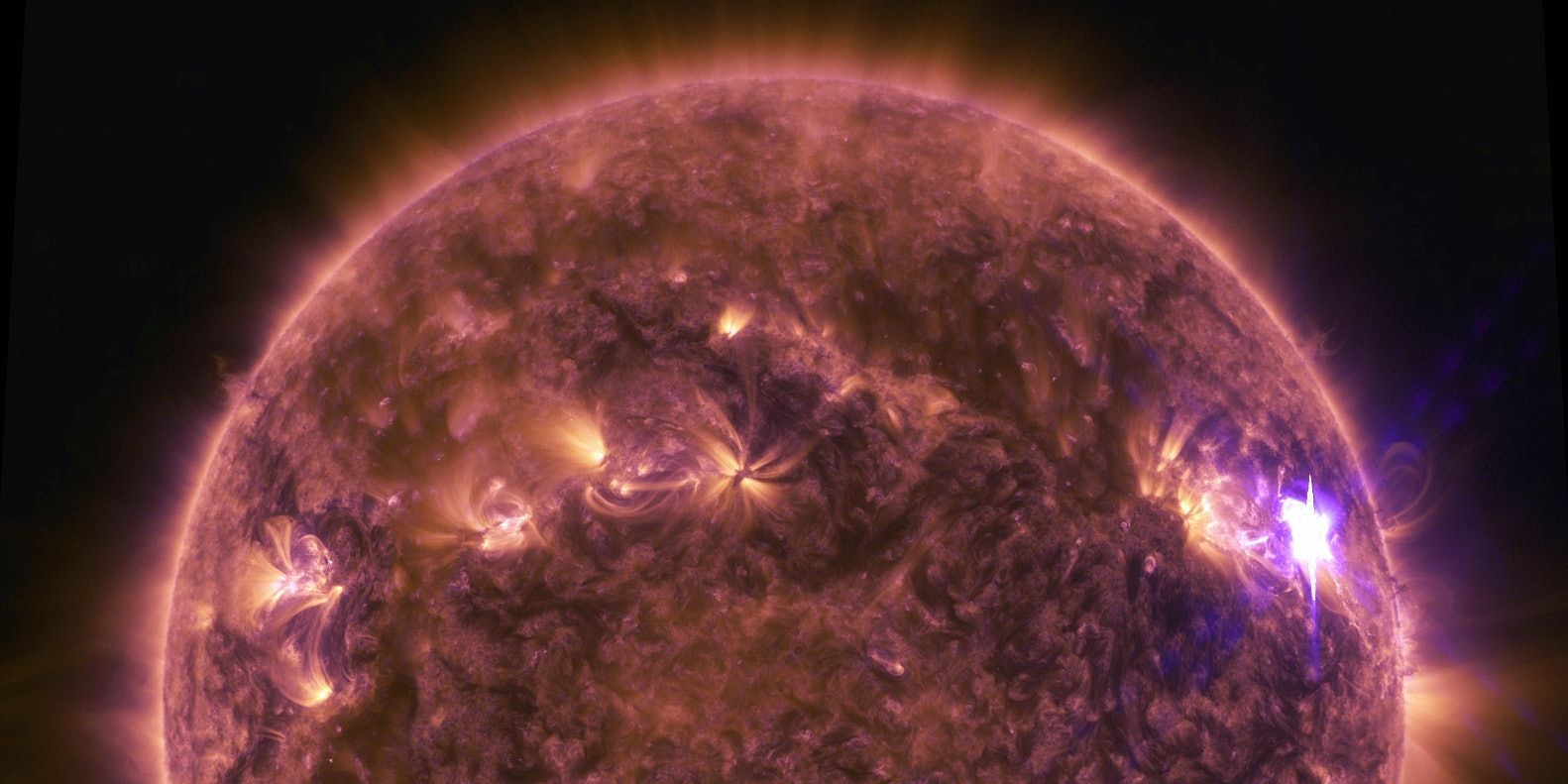NASA's SDO spacecraft captured some sweet views of a solar flare.