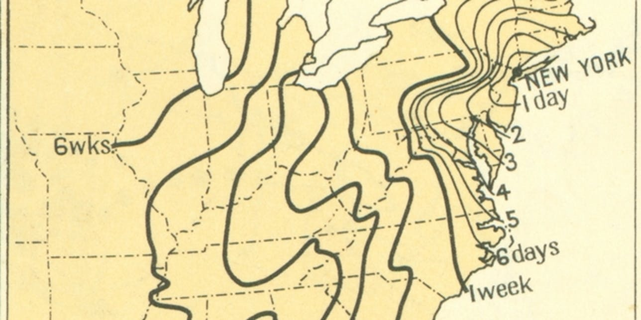 Map Of The Us In 1800.These Historical U S Travel Maps Show How Long Transport Took In
