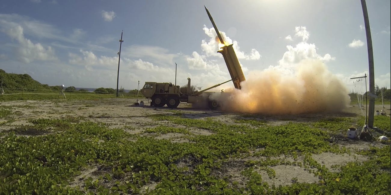 Terminal High Altitude Area Defense (THAAD) is a missile defense system arived at the Osan Air Base on March 6, 2017 in Pyeongtaek, South Korea.