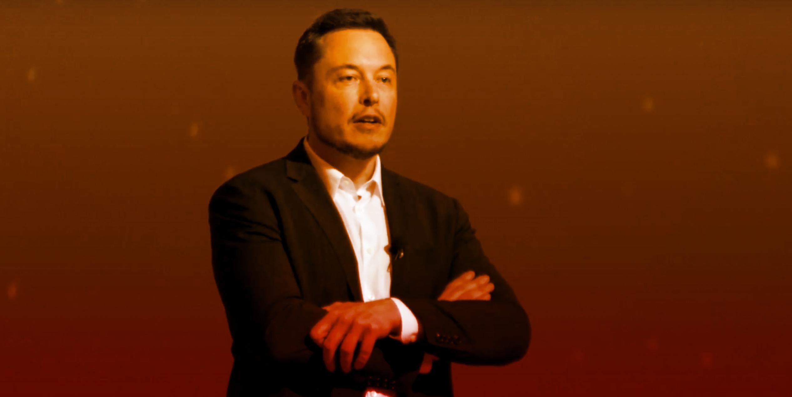 Elon Musk's SpaceX presentation.