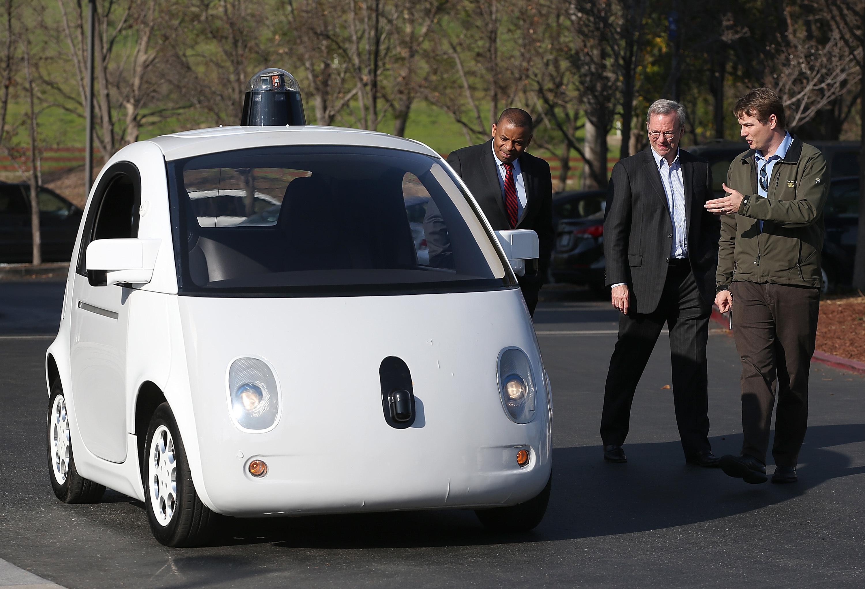 A Google self-driving car. Autonomous vehicle technology is central to Japan's plans for future advancements.