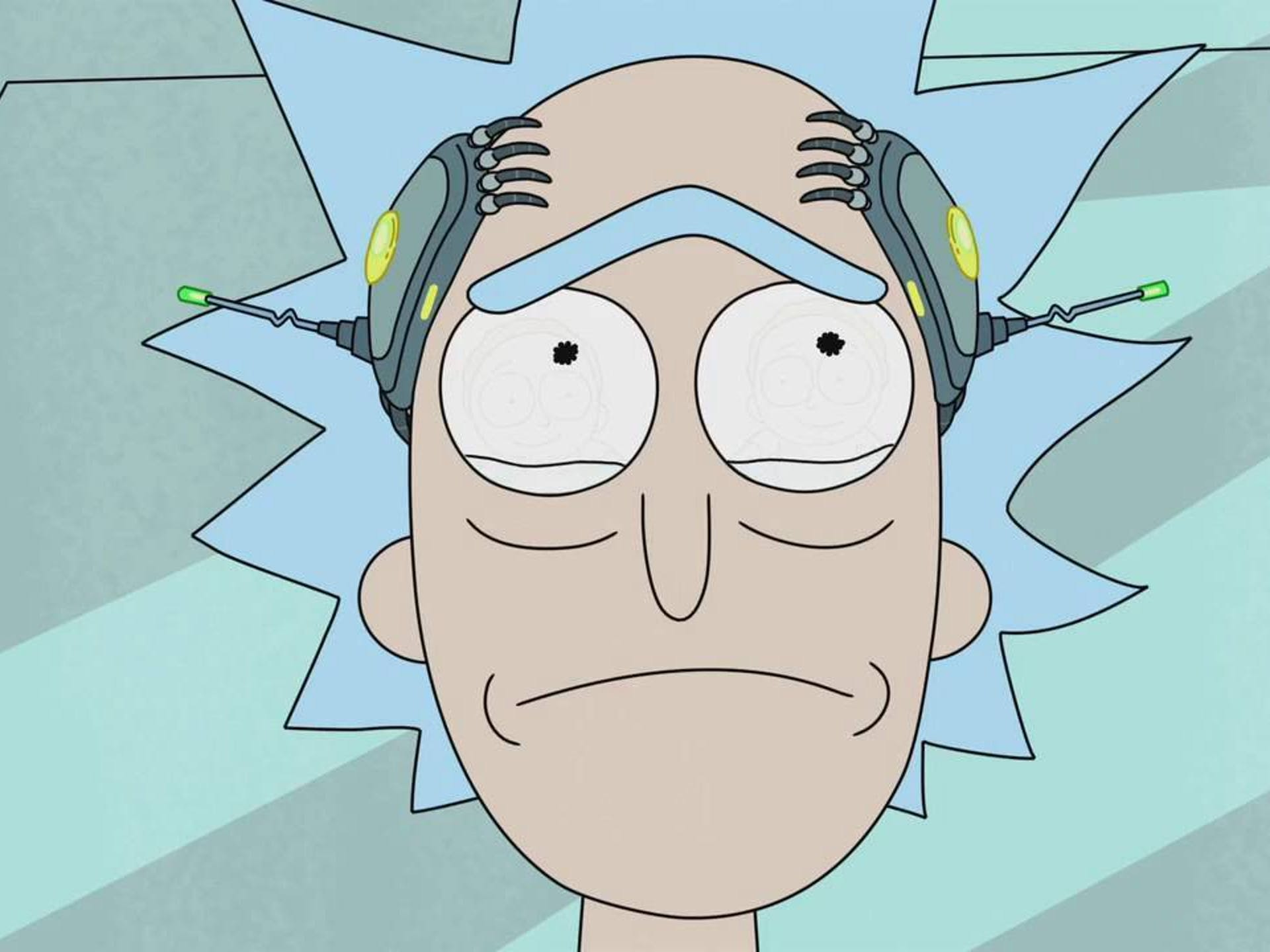 rick sanchez crying