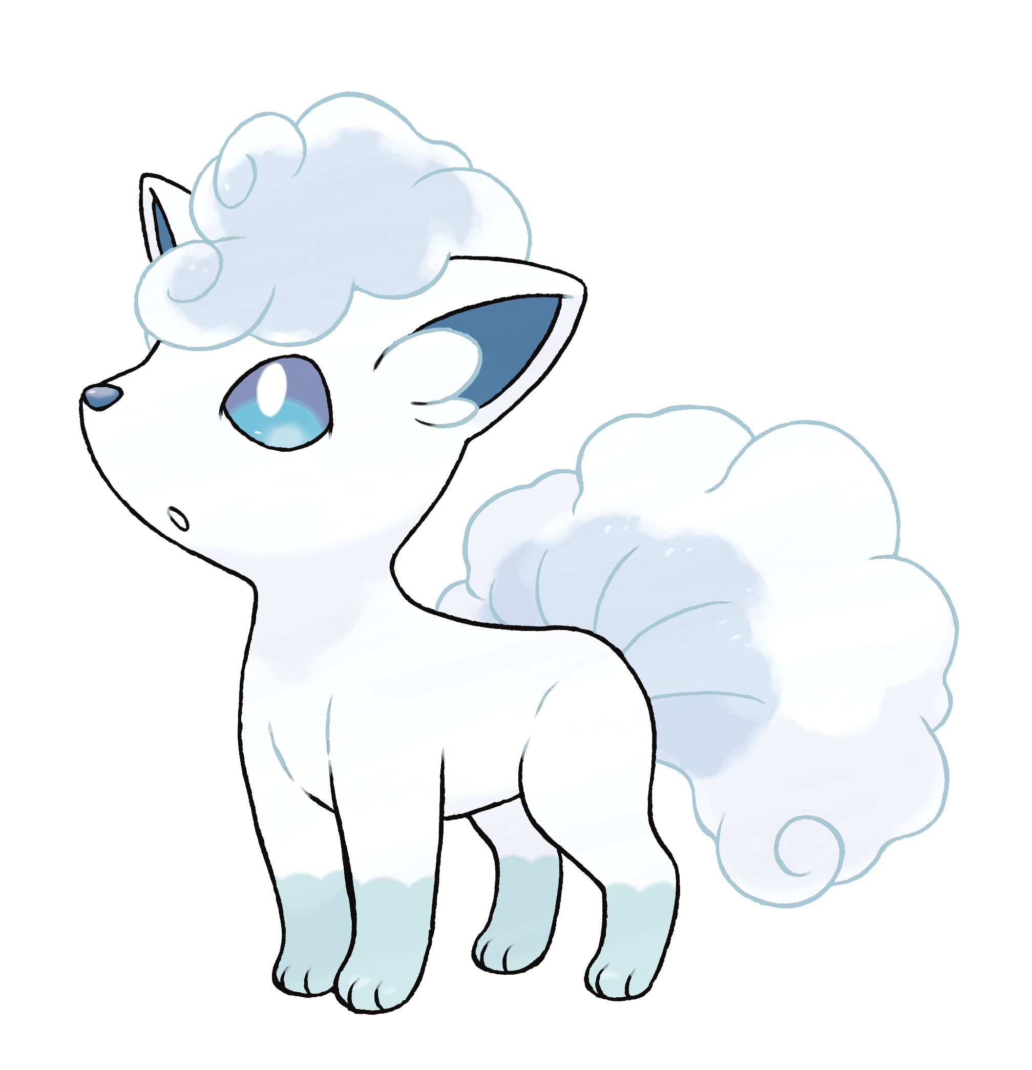 It's possible that generations of natural selection resulted in the all-white Alolian Vulpix.