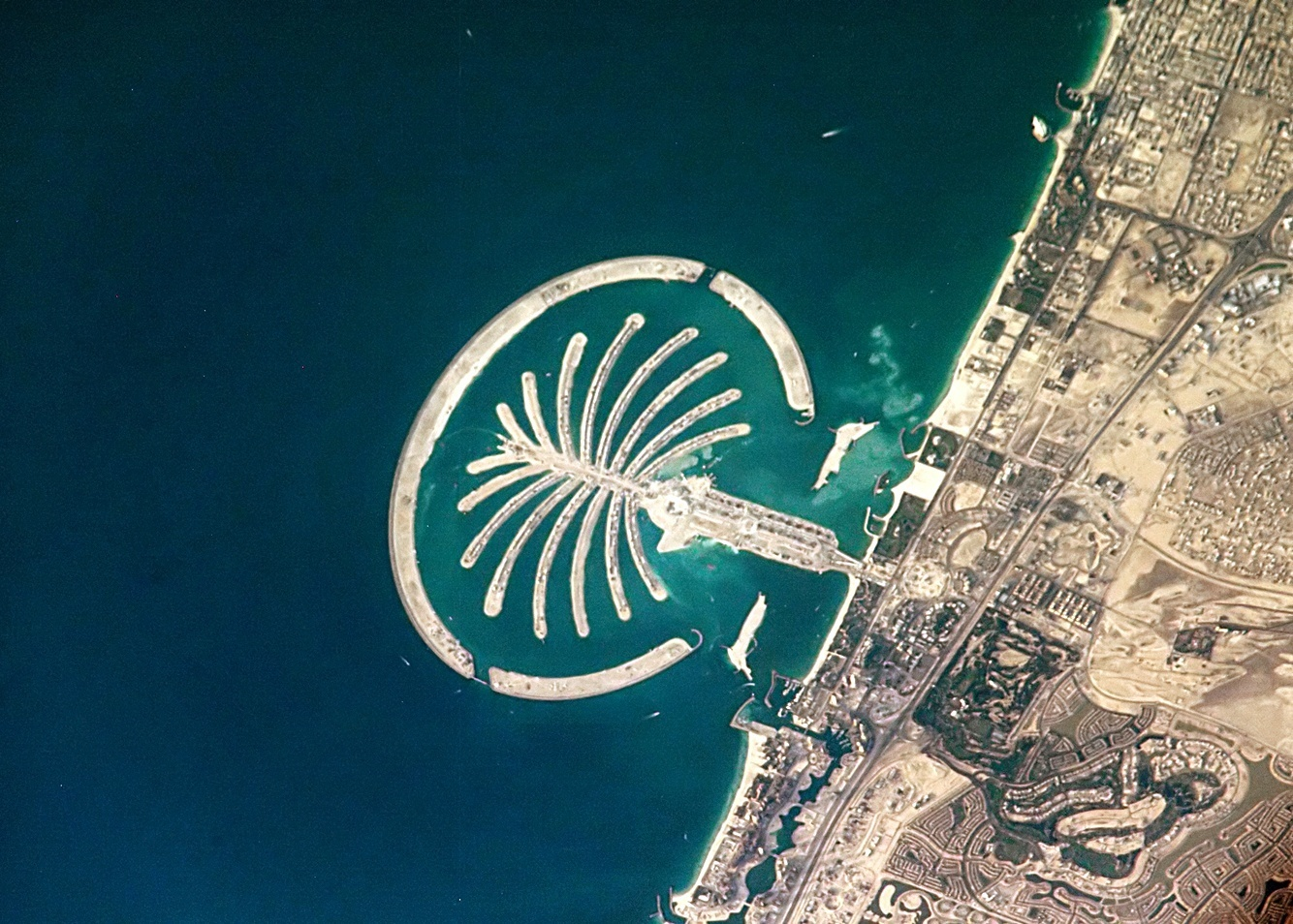 Dubai's palm islands collectively add more than 300 miles to Dubai's coastline.